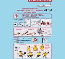 Air Tahiti ATR72 safety card by MrYum