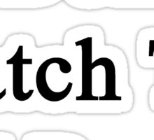 I Don't Watch TV I Run Sticker