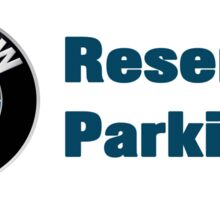 bmw reserved parking Sticker