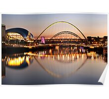 River Tyne Lit Up Poster
