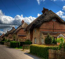 A Row of Thatched Houses in East Stratton by NeilAlderney