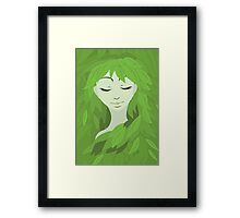 Mother Earth (Eyes Closed) Framed Print