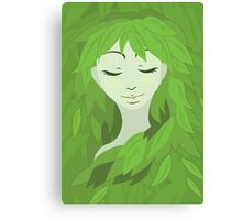 Mother Earth (Eyes Closed) Canvas Print