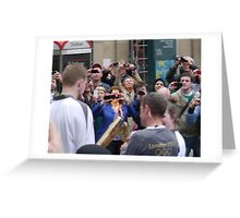 Passing the Flame, Olympic Torch, Glasgow Greeting Card