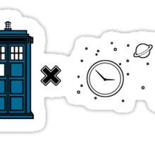 Formula to the Whoniverse sticker Sticker