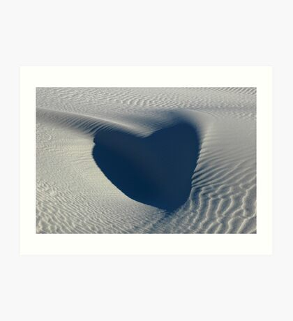 Hearts in the Desert Art Print