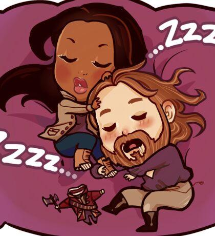 Sleepy Heads.  Sticker