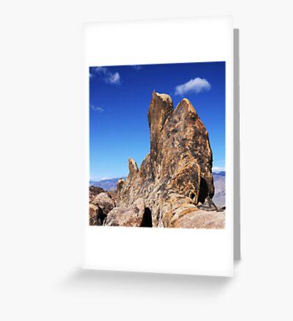 Alabama Hills Rock Formation Greeting Card