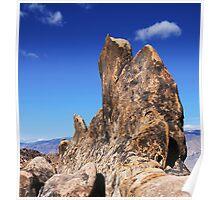 Alabama Hills Rock Formation Poster