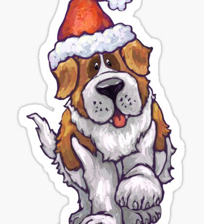 St. Bernard Christmas Sticker