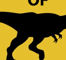 Beware of Dinosaur Sign (New) Sticker