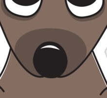 Cute cartoon dog with big, begging eyes Sticker