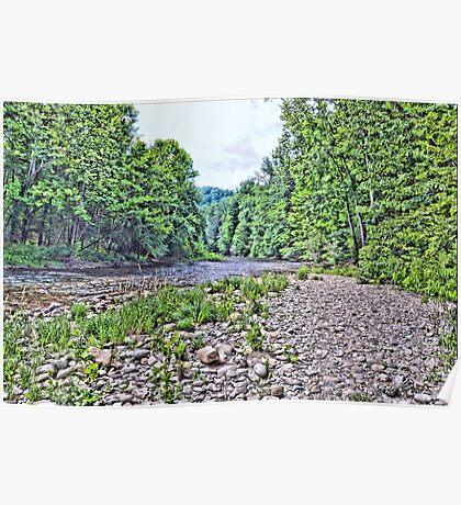 Oconaluftee River (HDR) Poster