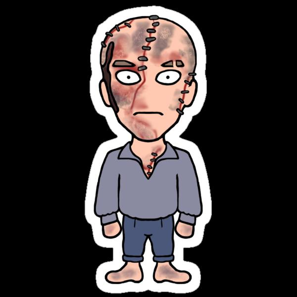 Frankenstein's Creature sticker by redscharlach