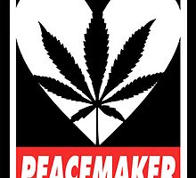 Budding Hearts - Peacemaker, Stickers by alexcaughtfire
