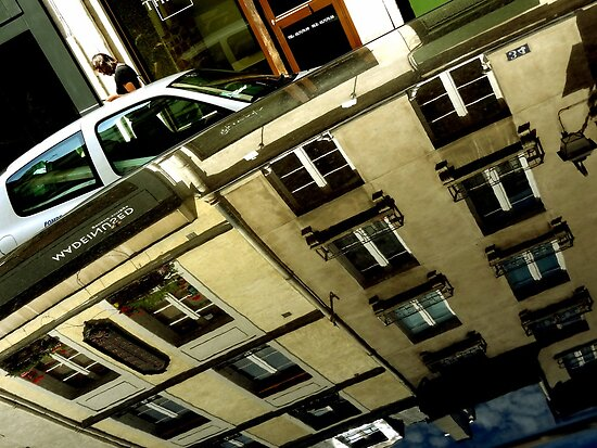 Random 'Hood of a Car' Reflections: PARIS by Michael J Armijo