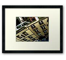 Random 'Hood of a Car' Reflections: PARIS Framed Print