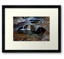 The Subway Pools of Light Framed Print