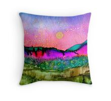 Beyond ~ Alcohol Ink ~ Inkscape Throw Pillow