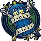 Timey Wimey - Sticker by TrulyEpic