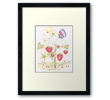 Maypole Strawberries and The Jubilee Butterfly Framed Print