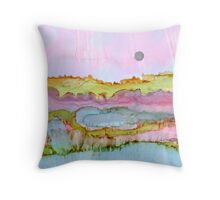 Pastel Smudge ~ Alcohol Ink ~ Inkscape Throw Pillow