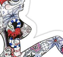 Mudflap Girl Doodle Sticker