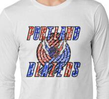 BLAZERS WHITE Long Sleeve T-Shirt