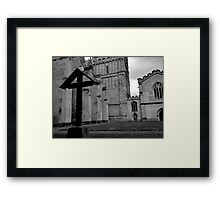 The Cross At Exeter Cathedral Framed Print