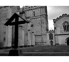The Cross At Exeter Cathedral Photographic Print