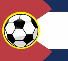 Colorado Soccer Flag Sticker
