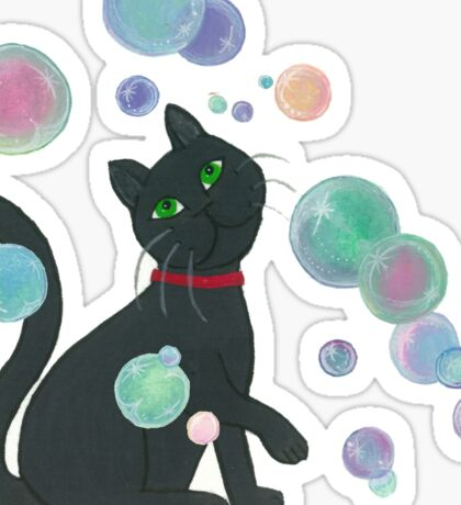 Cat with bubbles Sticker