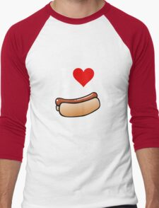 I love hot dogs Men's Baseball ¾ T-Shirt