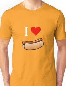 I love hot dogs Unisex T-Shirt
