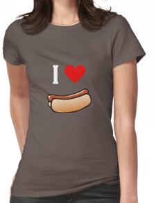 I love hot dogs Womens Fitted T-Shirt