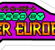 Powered by Super Eurobeat Sticker