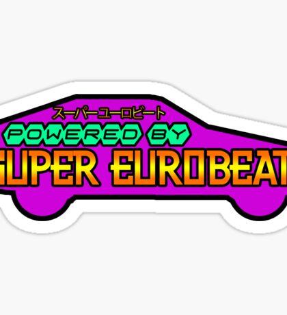 Powered by Super Eurobeat Sticker