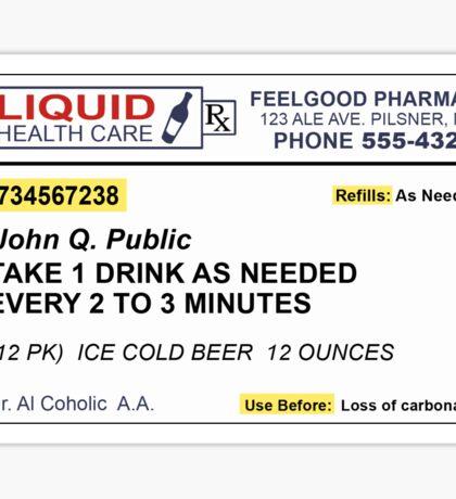 Beer Prescription  Sticker