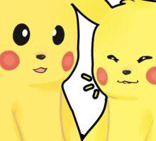 Pikachu Couple Sticker Sticker