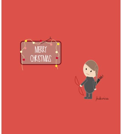 Merry Christmas by Katniss  Sticker