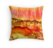 Energy in Abstract ~ Alcohol Ink ~ Inkscape Throw Pillow