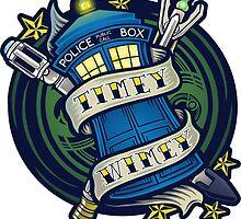 Timey Wimey (sticker) by Ameda Nowlin