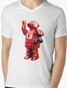 Bibot Robot Mens V-Neck T-Shirt