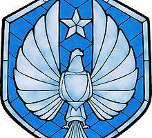 PPDC SHIELD - LG STICKER - BLUE by SporkArt