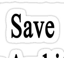 Forget About Me Save My Architect  Sticker
