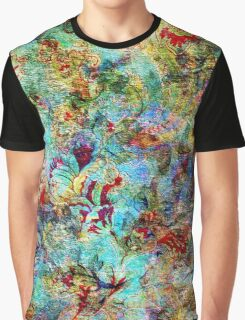 Rustic Colorful Floral Collage Grunge Syle Graphic T-Shirt