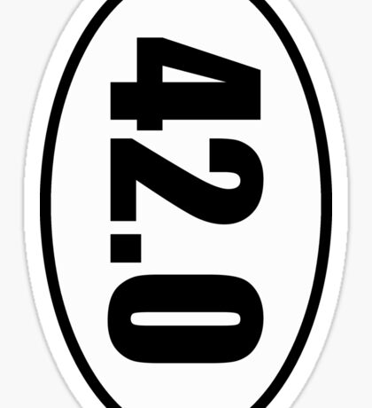 42.0 - European Style Country Code Sticker Sticker