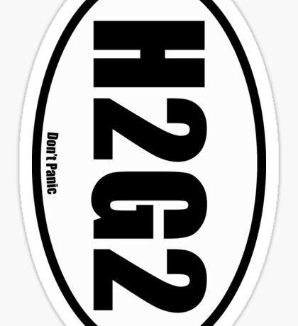 H2G2 - European Style Oval Country Code Sticker Sticker