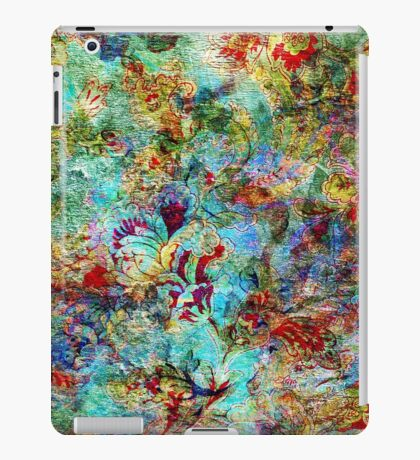 Rustic Colorful Floral Collage Grunge Syle iPad Case/Skin