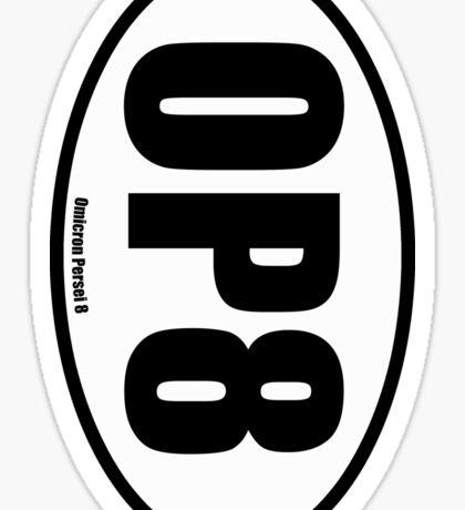 Omicron Persei 8 - European Style Oval Country Code Sticker Sticker